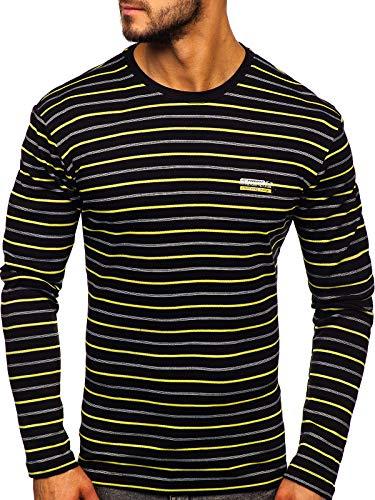 BOLF Hombre Camiseta De Manga Larga Escote Redondo Estilo Urbano Mix 1A1
