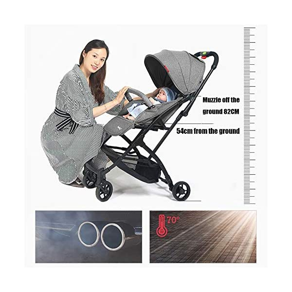 CYCPACK Gray Prams And Pushchairs From Birth - Quick Folding Portable Baby Stroller, Mothercare Journey Travel System Suitable for Babies Aged 0~3 CYCPACK Safe:With sturdy aluminum alloy, compact body and five-point seat harness,each stroller has been pressure tested to provide security for each baby.After using for a period of time, be sure to add lubricant to the bearings of the four wheels to prevent the wheels from being damaged by force. Quality and Design:The backrest of the stroller supports sitting, half lying, lying,all three angles,lengthened and widened sleeping basket. Four wheel independent shock absorbing and built-in bearings make it smoother and quieter. COMFORTABLE: Thanks to backrest and footrest adjustable into lying position, sun hood, practical cup holder tray, and large shopping basket both the parents and the child will be comfy 4
