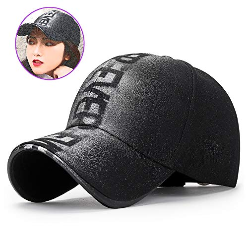 MXMYFZ Sandwich Peak-Cap, Paar Baseballmützen Mode Sprühfarbe Hip-Hop-Art-Sonnenhut Unisex beiläufige Wilden Hut, justierbarer Ins Retro Cap,Schwarz