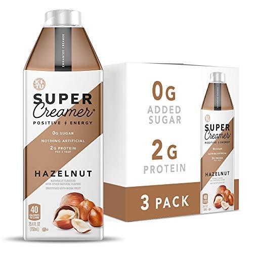 Kitu Super Coffee Creamer, SugarFree Coffee Creamer (0g Sugar, 2g Protein, 40 Calories) [Hazelnut] 25.4 Fl Oz, 3 Pack   Keto Coffee Creamer - From the Super Coffee Family