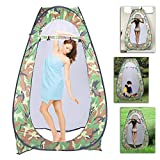 HomVent Pop Up Privacy Tent,Instant Portable Outdoor Shower Tent, Camp Toilet,Changing Dressing for Camping & Beach,47.24' L x 47.24'Wx 74.8' H
