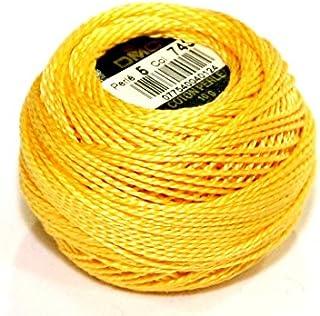 DMC Cotton Perle Thread Size 5 743 - per 10 gram ball