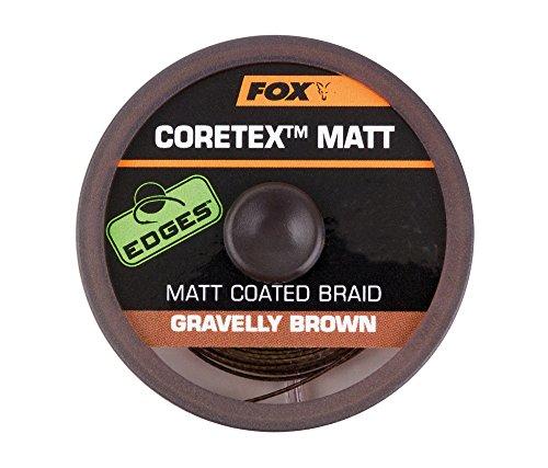 FOX Edge Matt Coretex 20m Vorfachschnur, Tragkraft:25lbs/11.4kg, Farbe:Braun