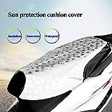Balight Funda de Asiento Moto Prevent Bask In Seat Scooter Sun Pad Impermeable Aislamiento térmico Cojín Protector 1PC
