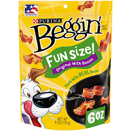 Purina Beggin Real Meat Dog Treats, Fun Size Original With Bacon - (6) 6 oz. Pouches