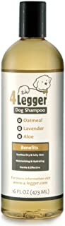 4Legger Certified Organic Oatmeal Dog Shampoo with Aloe and Lavender Essential Oil - All Natural Safely Soothe, Condition ...