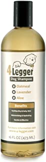 4-Legger Certified Organic Oatmeal Dog Shampoo with Aloe and Lavender Essential Oil - All Natural Safely Soothe, Condition and Moisturize Normal to Dry, Itchy Sensitive Skin - Made in USA - 16 oz