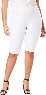 595b89b7d45be Women s Plus Size Pull-On Stretch Denim Bermuda Short