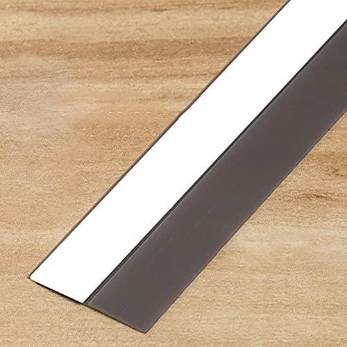LJP Puerta Ventana Tira de Sellado Tira de Sellado de Silicona para Puertas Ventana Resistente al Viento Parte Inferior del gabinete A Prueba de Polvo Insonorizado,Espacio de Sellado 1-15 mm (6 m)