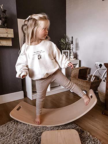 SET of Boards Curvy Board Waldorf Board Montessori Board Curved Balance Board wobble Natural wood