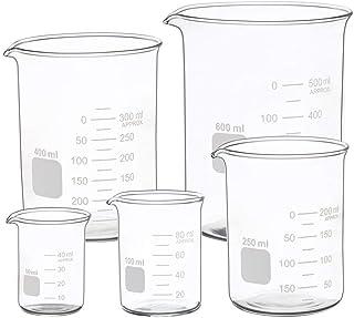 مجموعه شیشه های فارغ التحصیل اندازه گیری شده 50ml 100ml 250ml 400ml 600 ml