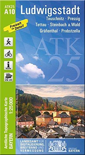 Preisvergleich Produktbild Amtliche Karte Ludwigsstadt: Maßstab 1:25 000 ATK A10 (ATK25 Amtliche Topographische Karte 1:25000 Bayern)