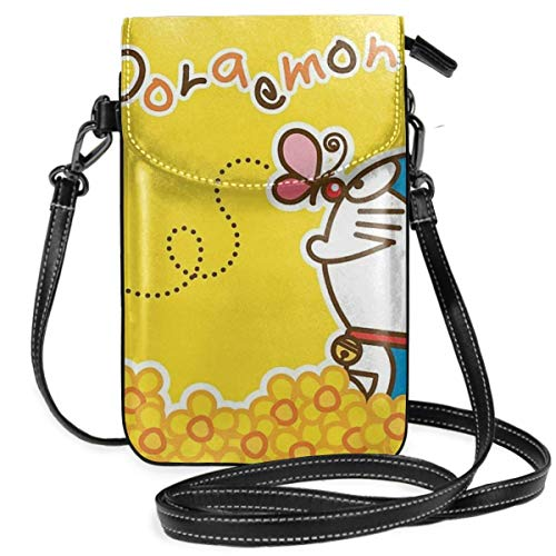 Lsjuee Womens Crossbody Bags Doraemon with Butterfly Small Cell Phone Purse Wallet with Credit Card Slots