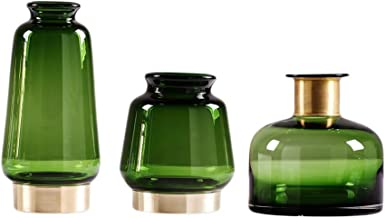 Flowers Vase Glass Vases for Wedding Table Light Luxury Hydroponics Vase Green Phnom Penh Living Room Study Accessories Se...