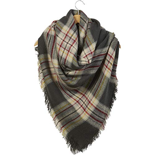 Tickled Pink Women's Scarf-Blanket Plaid, Anchor, 55' X 55'