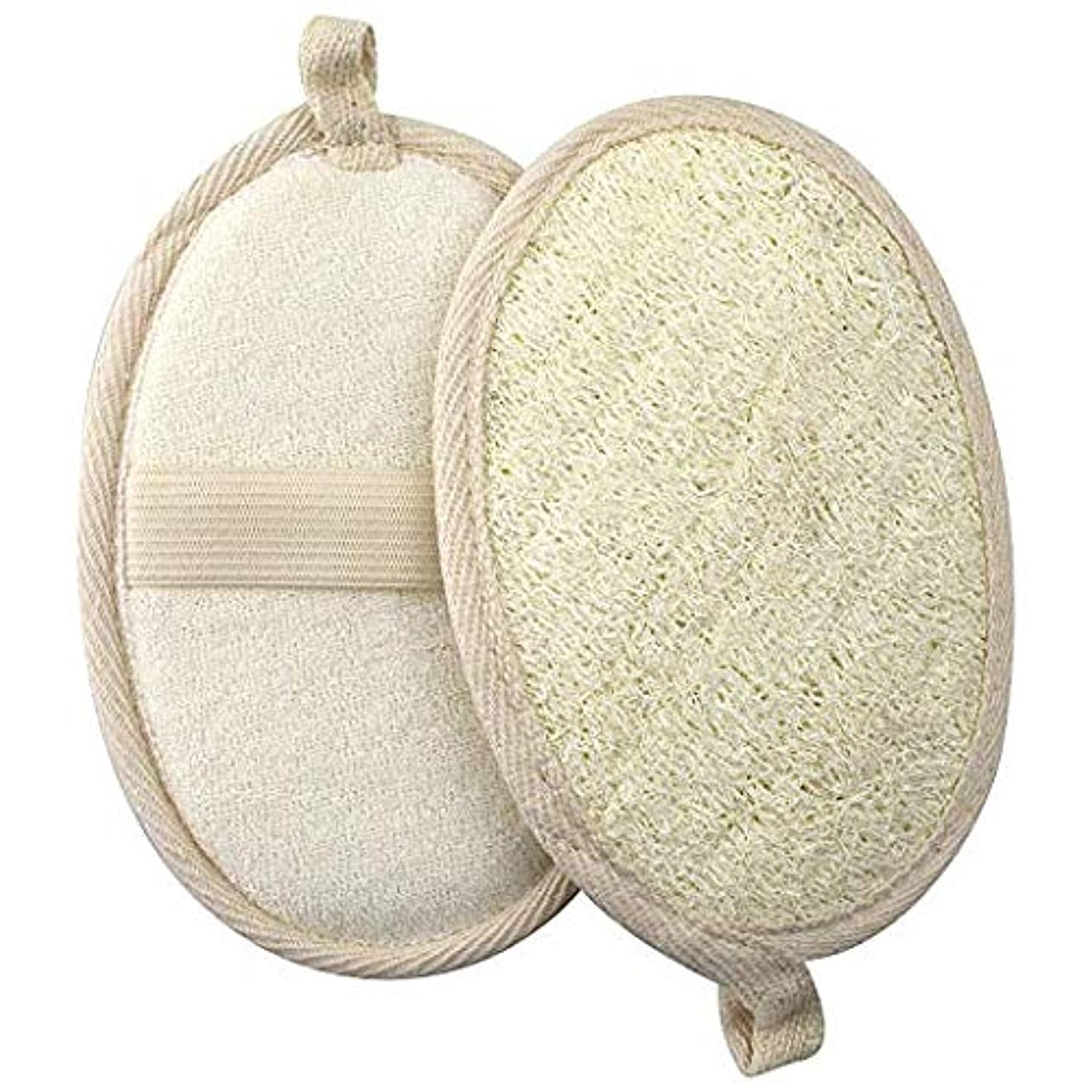 瞑想分解する反対するGWHOLE ボディスポンジ 風呂 天然ヘチマ2枚セット