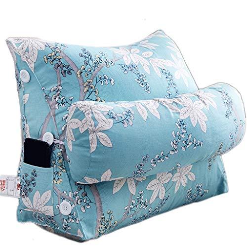 Triangle cushion SLL with headrest headrest cushion triangle pillow sofa office cushion multicolor (Color : B, Size : 60cm)