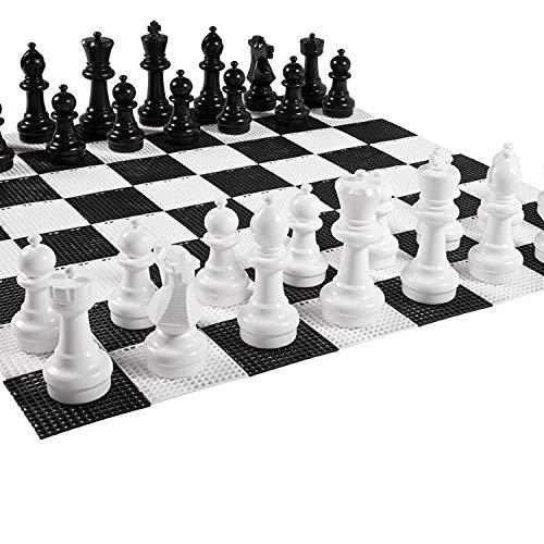 Übergames Garten Schach Figuren aus langlebigem PVC , für Freiland Garten und Parks