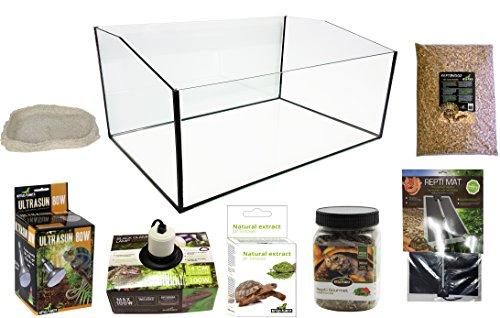 Reptiles Planet Terrarium-Set, komplett mit offenem Becken, für Schildkröten, Terrester, 60 x 40 x 28 cm