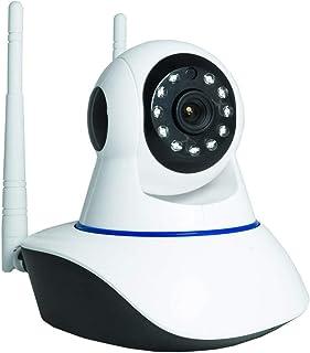 Cámara IP HD P LED IR LAN inalámbrica Wi-Fi motorizada, Antenas Internet