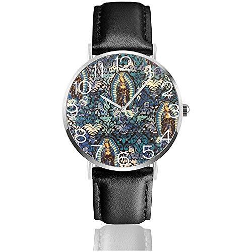 Reloj de Pulsera Virgen María Religiosa Católica Clásica Casual Reloj de Cuarzo Relojes de Negocios