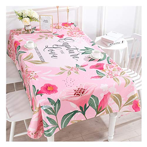 Qiao Jin tafelkleed, waterdicht, dik tafelkleed, landelijk, katoen en linnen, rechthoekig, tafelkleed, salontafel, tv-kast, tafelkleden