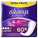 Always Slipeinlagen Damen Profresh Large (60 Einlagen), Giga Pack, Geruchsneutralisierende...
