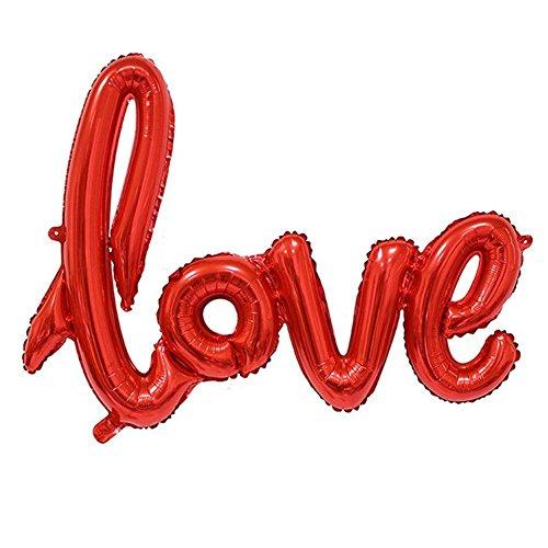 LAAT Love Ballon Banner Feier Ballon Hochzeit Dekoration Bälle Romantische Dekorationen Ballons Love Form Jahrestag Valentinstag 108 * 64CM Champagne (2)