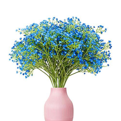 Yunuo - 12 flores artificiales de seda para bebé