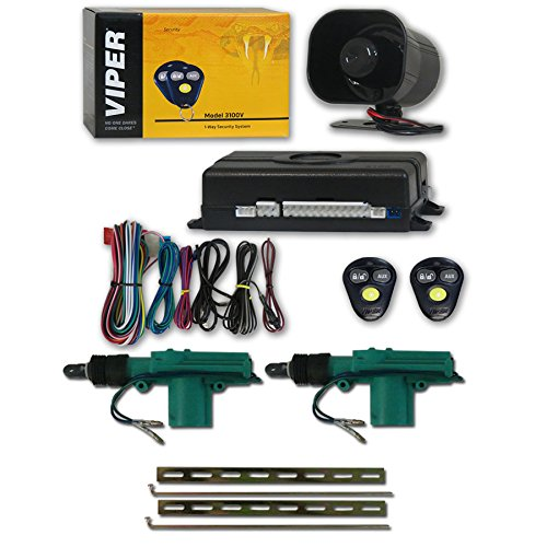 Viper 3100V 1-way Car Alarm System with 2 Remotes & Keyless Entry + Universal Door Lock Actuator 2 Wire