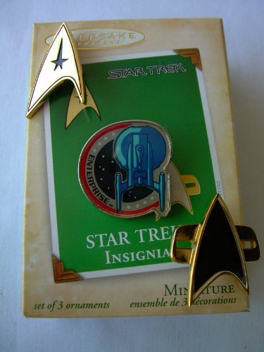 Hallmark Star Trek - Insignias - The Command Original Series/Enterprise/TNG DSN Voyager - Christmas Ornament Keepsake (2004)