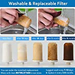 LELEKEY Tap Water Filter System, Premium 304 Stainless Steel,528-Gallon 6-Stage Water Purifier Filtration Faucet Mount… 6 【Filter Replacement】The filter replacements for LELEKEY Faucet Mount Filter, Asin:B07W13FP7H 【Ceramic Filter Replacement】Ceramic filter replacement bring you the best taste. The most advanced Activated Carbon Fiber (ACF) filtration technology,improve taste, and remove dirt, sand, rust, ect. The Accuracy can reach to 0.1μm for our 6-layer filtration system, Distributing safer drinking water 【6-LAYER ACF FILTRATION SYSTEM】 The most advanced Activated Carbon Fiber (ACF) filtration technology,improve taste, and remove dirt, sand, rust, ect. The Accuracy can reach to 0.1μm for our 6-layer filtration system.