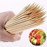 Lot de 150 brochettes en bois de bambou pour barbecue, brochettes, fruits, fête, barbecue, apéritif, etc