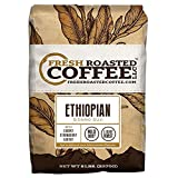 Fresh Roasted Coffee LLC, Ethiopian Sidamo Guji Coffee, Single Origin, Light Roast, Whole Bean, 5 Pound Bag