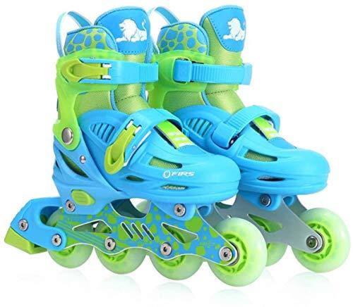 RENYAFEI Los Patines en línea para los Zapatos de los niños en línea Ajustable Zapatos Transpirables cómodos para niños y niñas,UNA,estupendo