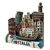 Toscana Italia Europa World Travel Resina 3D fuerte imán de nevera recuerdo turístico regalo chino imán hecho a mano artesanal creativo hogar y cocina decoración magnética (estilo 1)