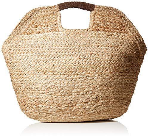 PIECES Damen Pccharlie Straw Bag Tasche, Beige (Nature), 2x51x42 cm