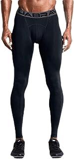 GAGA Men Compression Elastic Tight Leggings Sport Leader Printing Pant