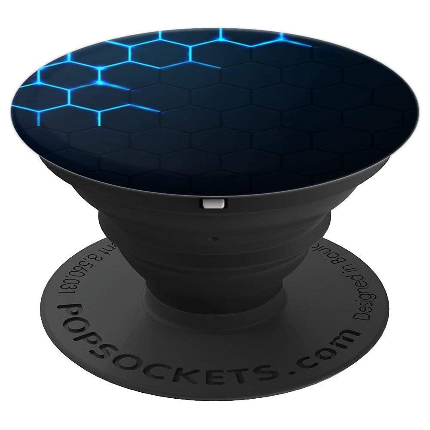 Black Abstract Background Theme Design For Men - PopSockets Grip and Stand for Phones and Tablets