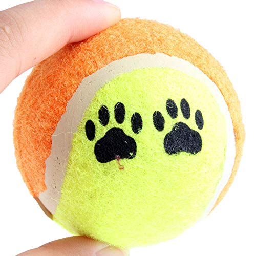 CHCY Hundespielzeug 6,5 cm Tennis Hundeball Hundespielzeug Laufen Fetch Ball Spiel Haustier Welpenspielzeug für Hundetraining Haustierbedarf 1St Kauspielzeug