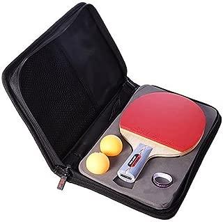 DHS (Double Happiess Hurricane Shake-Hand Grip Table Tennis Racquet, Storage Case, 3-Star Balls Gift Set