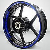Stickman Vinyls Gloss Blue Motorcycle Rim Wheel Decal Accessory Sticker Compatible With Honda CBR 1000RR