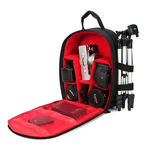G-raphy Camera Backpack Unisex Waterproof Photography Camera Gears Bag Case for DSLR/SLR Camera Lens Tripod and Accessories with Rain Cover Compatible with Nikon Canon Sony Olympus Panasonic and More