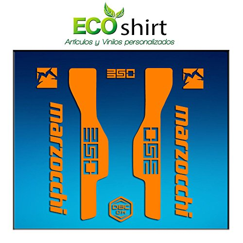 Ecoshirt BT-YG0B-VUQ5 Aufkleber Gabel Fork Marzocchi 350 Am32 Stickers Aufkleber Decals Adesivi Bike BTT MTB Cycle, Orange 29 Zoll