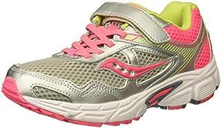 Saucony Cohesion 10 A/C Running Shoe (Little Kid/Big Kid) Grey/Coral 10.5 Medium US Little Kid [並行輸入品]
