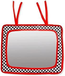 Baby Crib Mirror - Black, White & Red- Infant-Stim