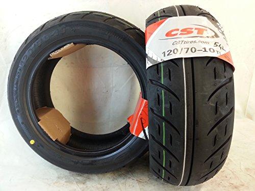 1 pneu 120/70-10 54 L TUBLESS renforcé CST C-6106 Vespa ZIP2000