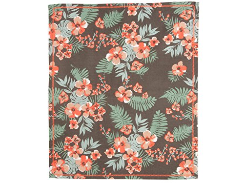 Present Time-PT3090 Canevas Floral Coton Marron/Orange 55 x 65 cm