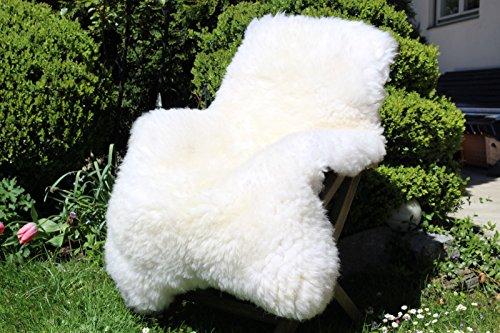 Alpenfell XXXL Großes Schaffell Weiß 140-150cm echtes Fell ökologische Gerbung
