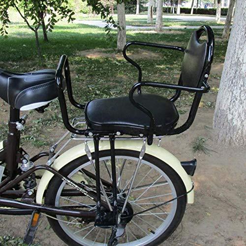 Vélo électrique - Avec siège arrière pour enfant Vélo VTT Siège de sécurité avec barrière haute, Noir